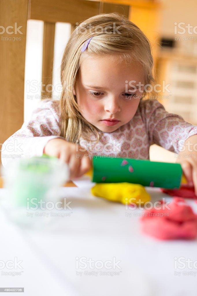 Playdough Creation stock photo