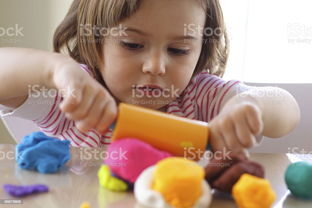 Playdough game stock photo