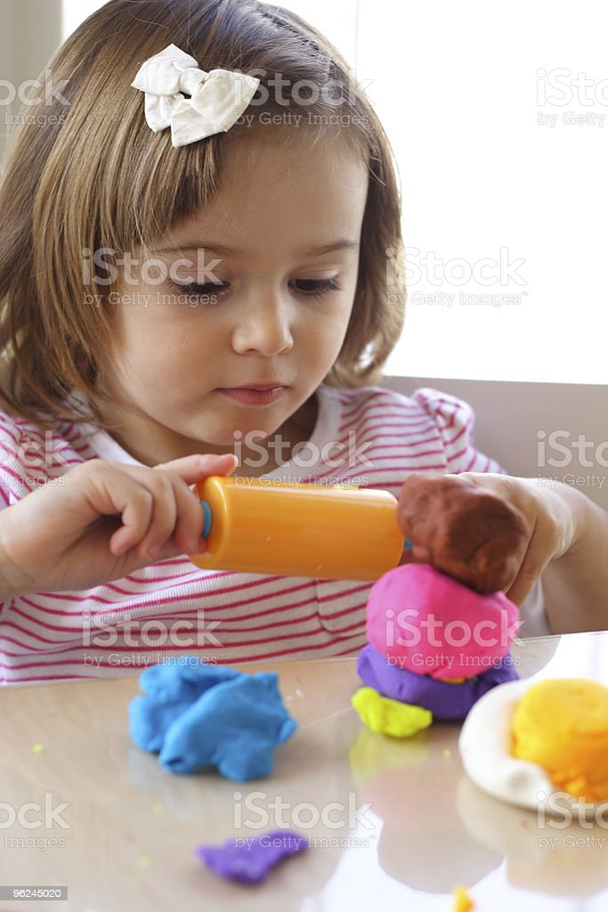 Playdough game royalty-free stock photo