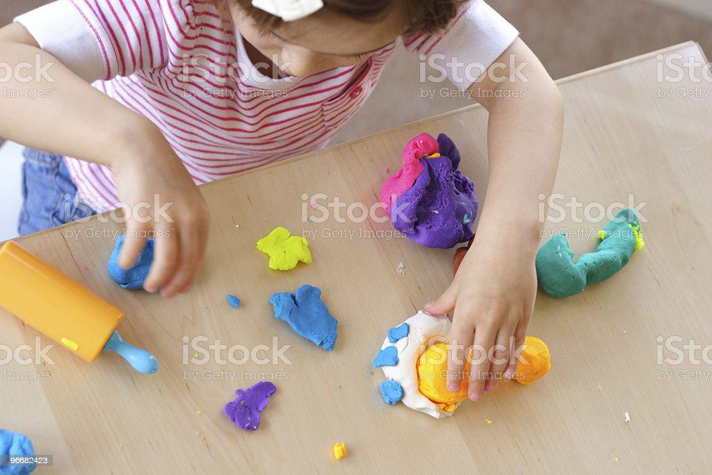 Playdough game stock photo