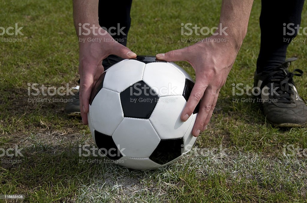 Player about to perform a penalty shoot out royalty-free stock photo