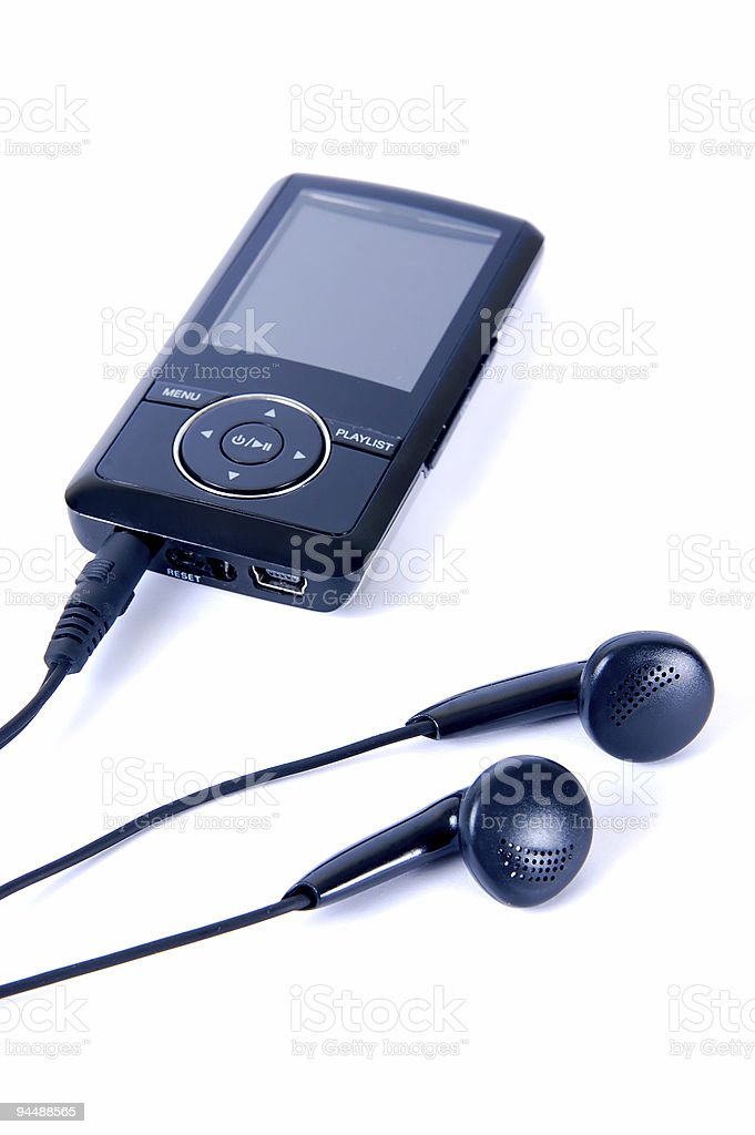MP3 Player and Headphone royalty-free stock photo