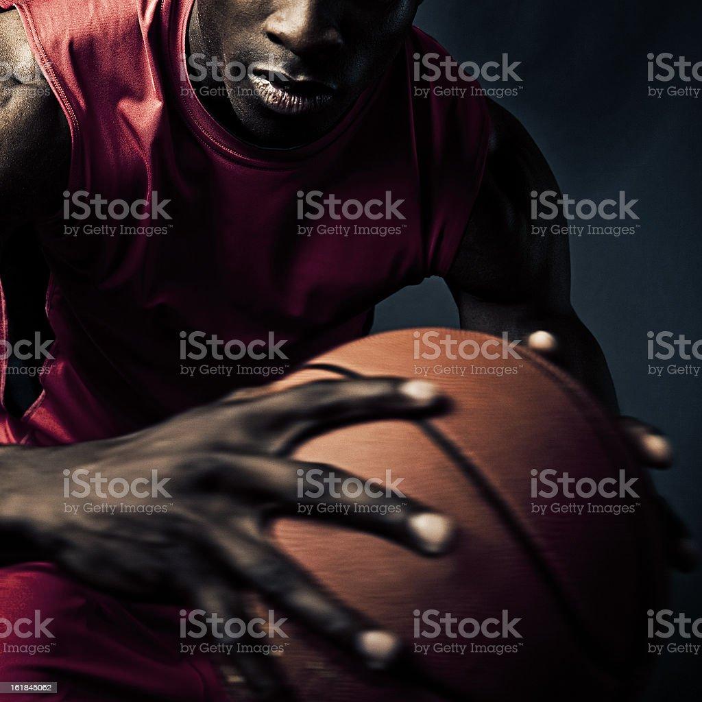 player catching basketball stock photo