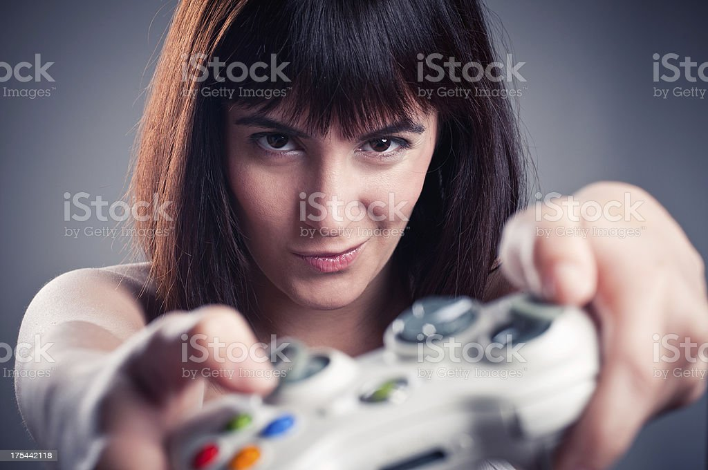 Player Girl royalty-free stock photo