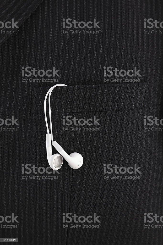 Наушники MP3-плеер Стоковые фото Стоковая фотография