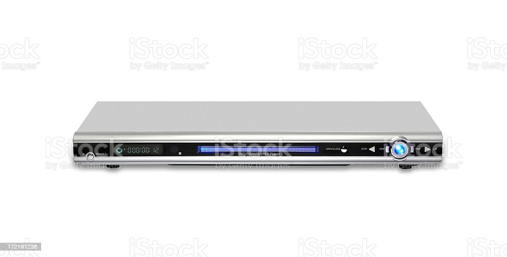 DVD player, isolated on white background stock photo