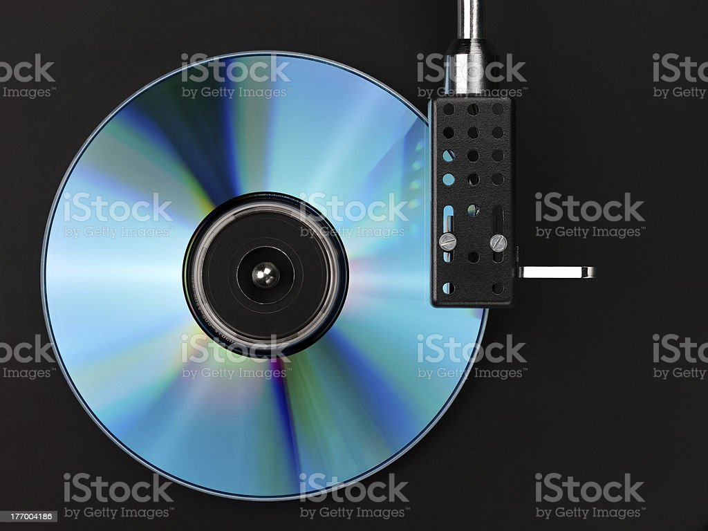 Player of  disks. stock photo