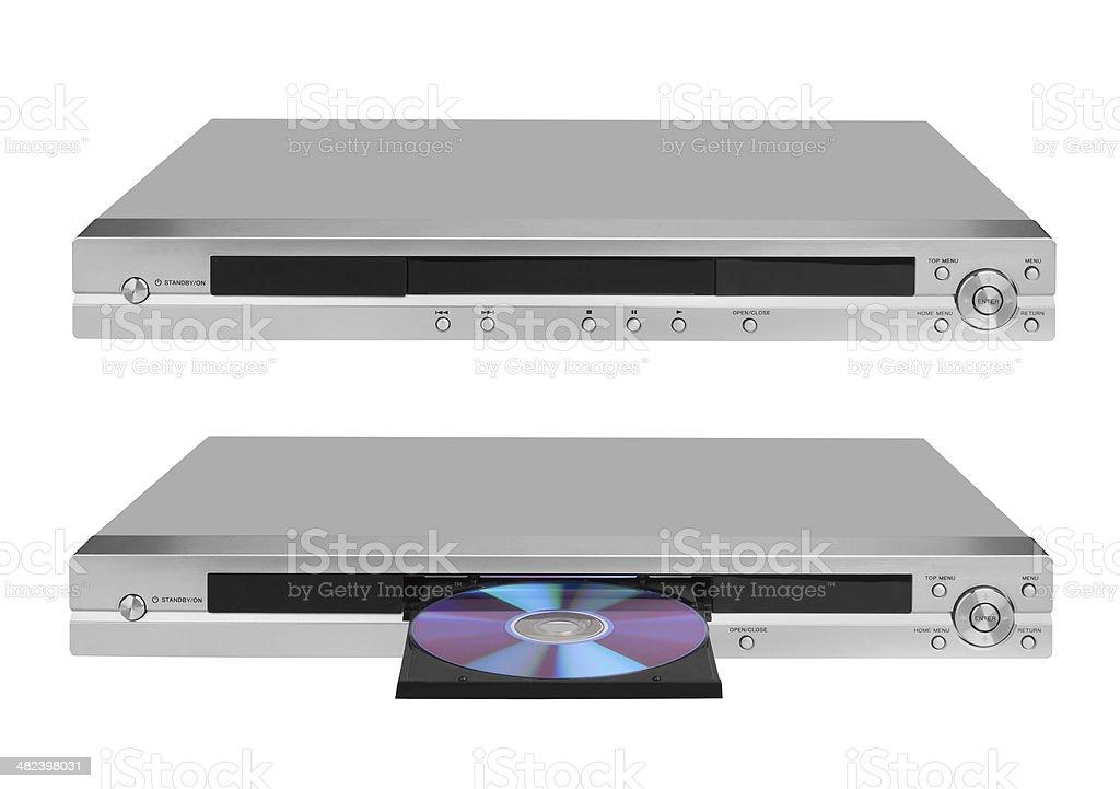 DVD player on white stock photo