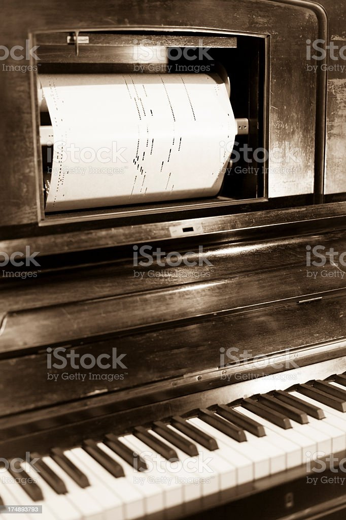 Player Piano stock photo