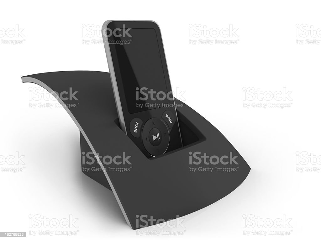 MP3 player stock photo