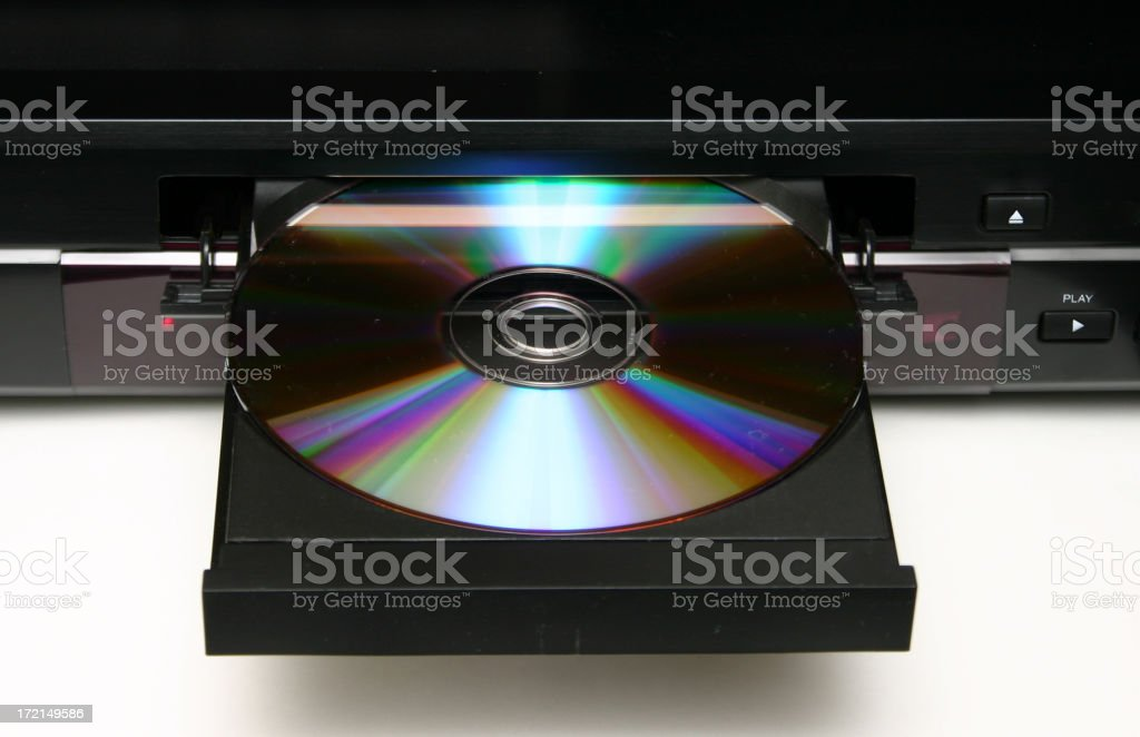DVD Player with blank DVD royalty-free stock photo