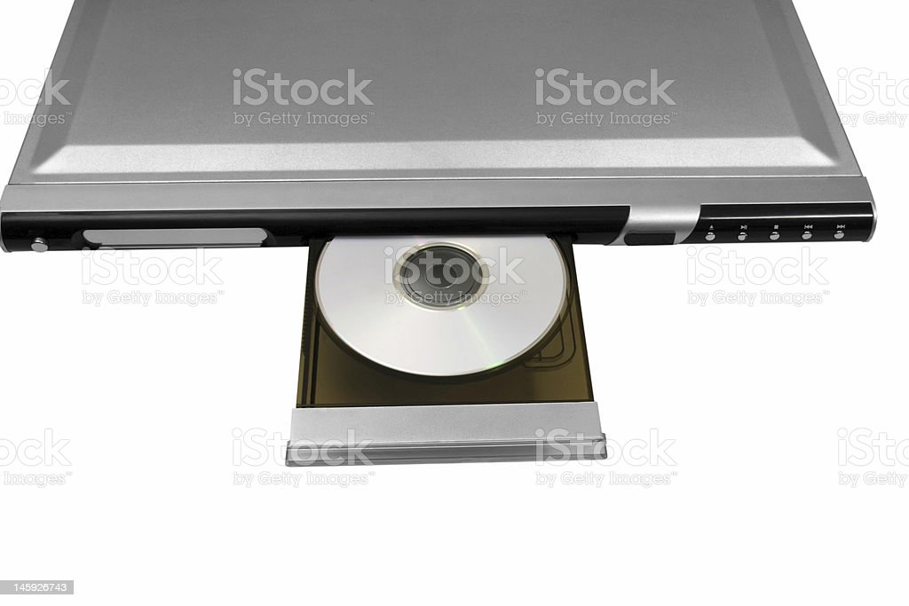 DVD Player with Disc stock photo