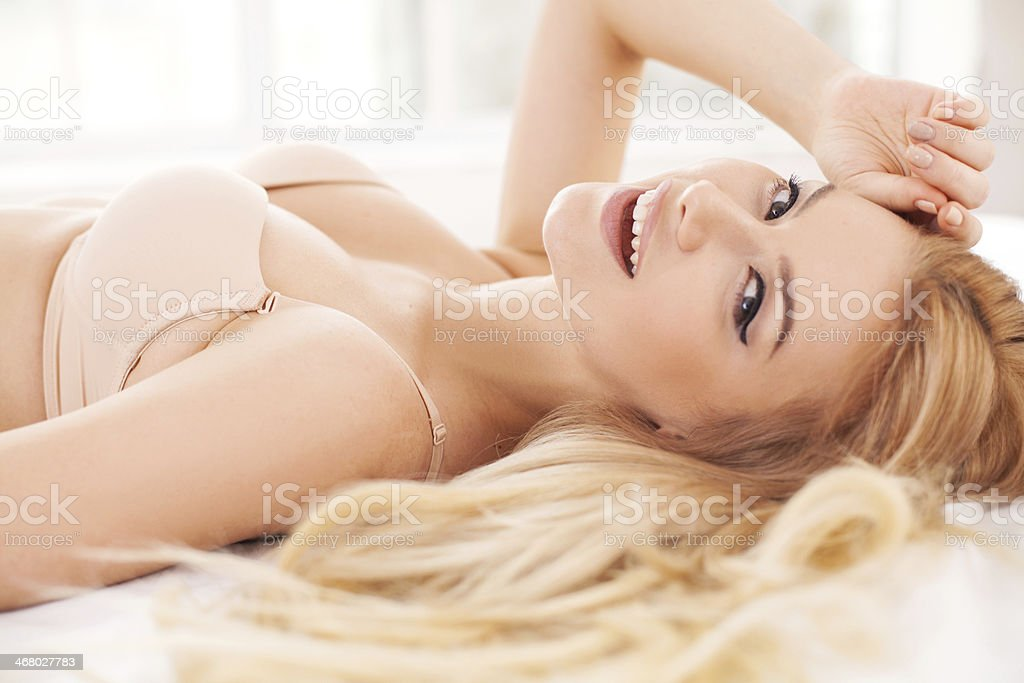 Playful and beautiful. stock photo