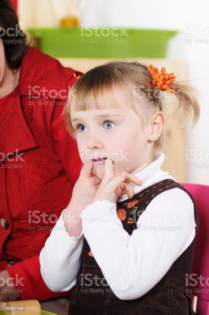 Playful And Cheeky 4 Year Old Blonde Girl royalty-free stock photo