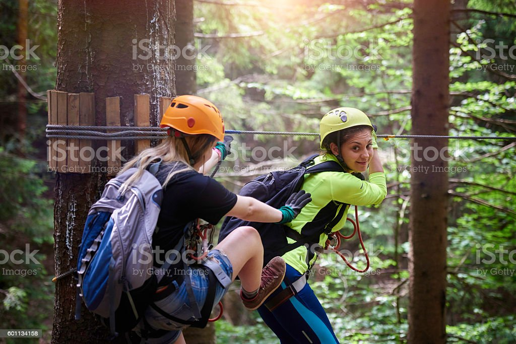 playful and energic friends stock photo