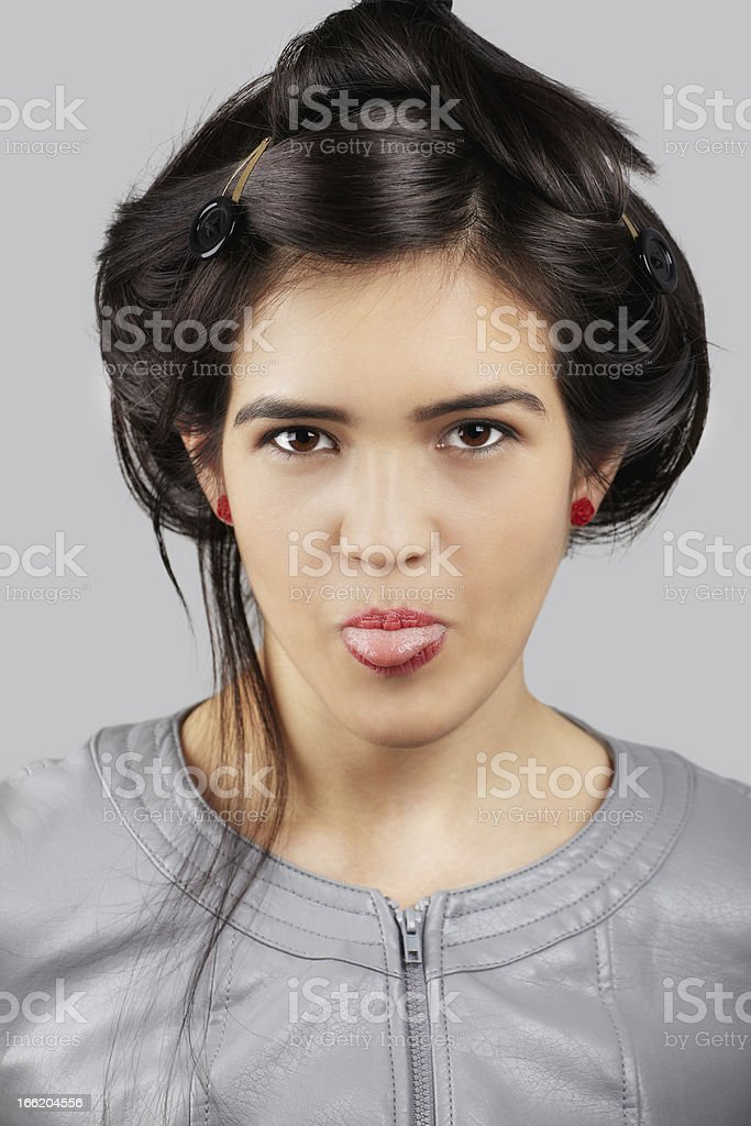 Playful asian woman royalty-free stock photo