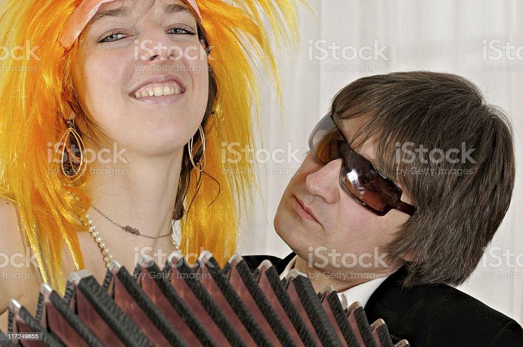 playful bandoneon player stock photo