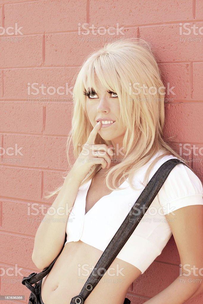Playful Blond royalty-free stock photo