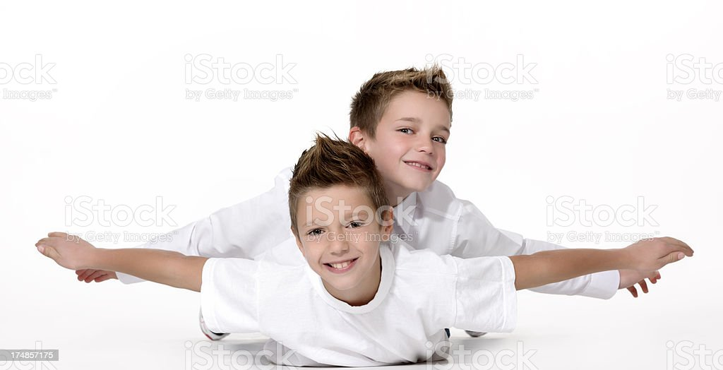 playful brothers royalty-free stock photo