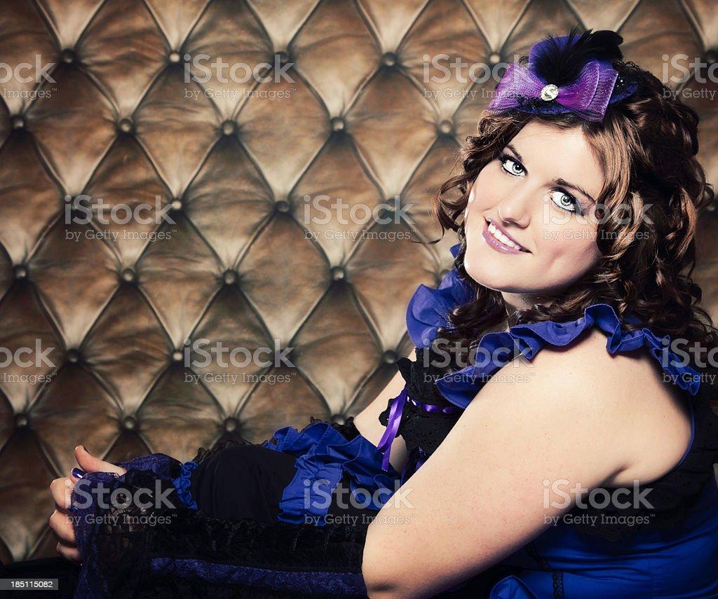 Playful Brunette Woman royalty-free stock photo
