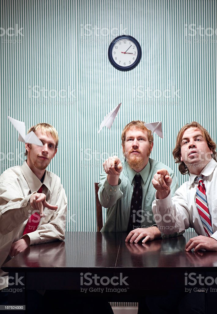 Playful Business Men royalty-free stock photo