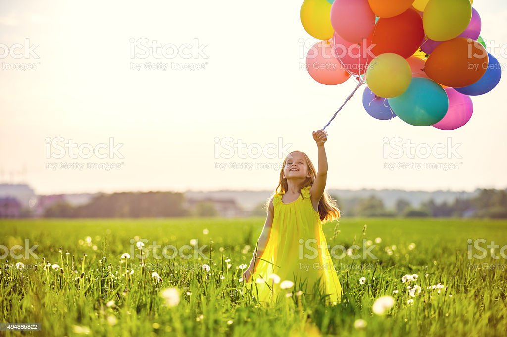 Playful child stock photo