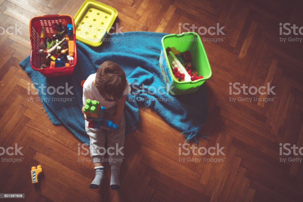 Playful childhood stock photo