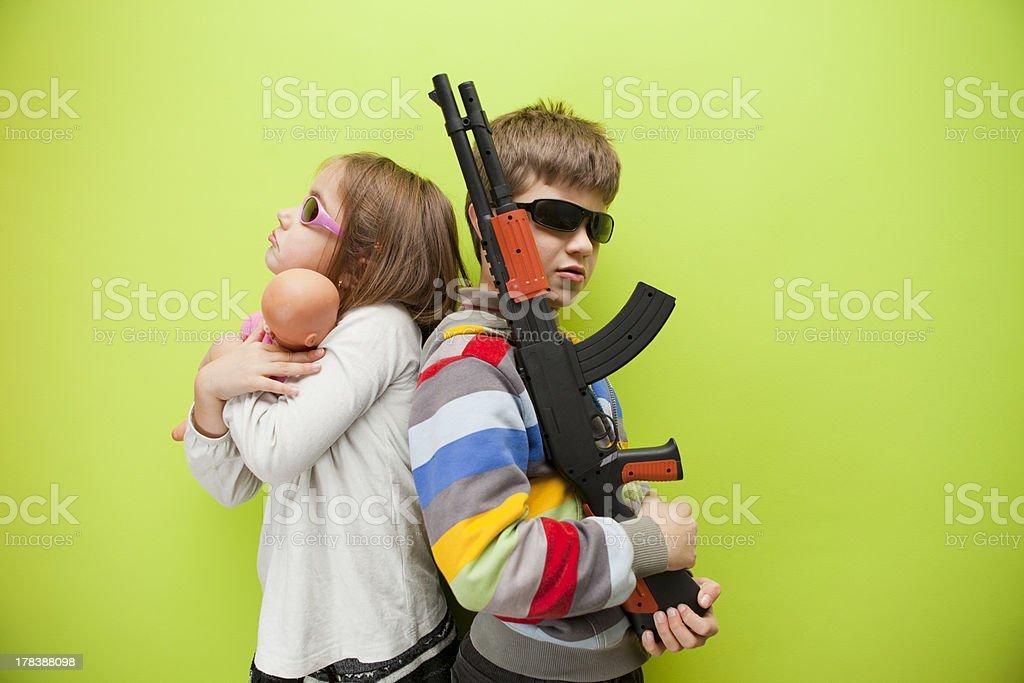 Playful children stock photo