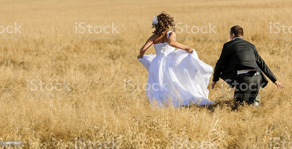 playful couple royalty-free stock photo