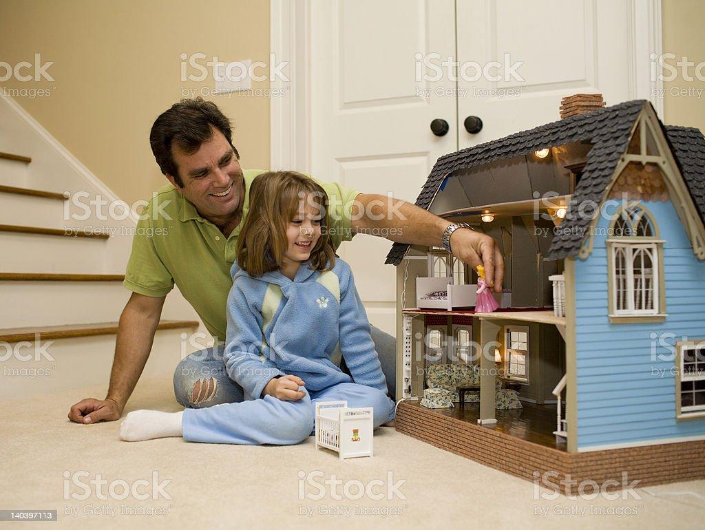 Playful Dad Sreis stock photo
