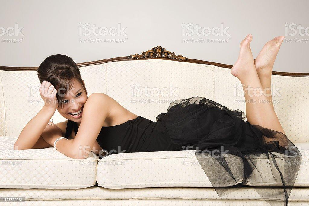 Playful Elegant Beauty royalty-free stock photo