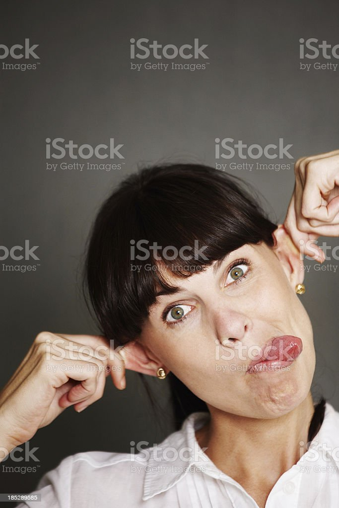 Playful facial expressions stock photo
