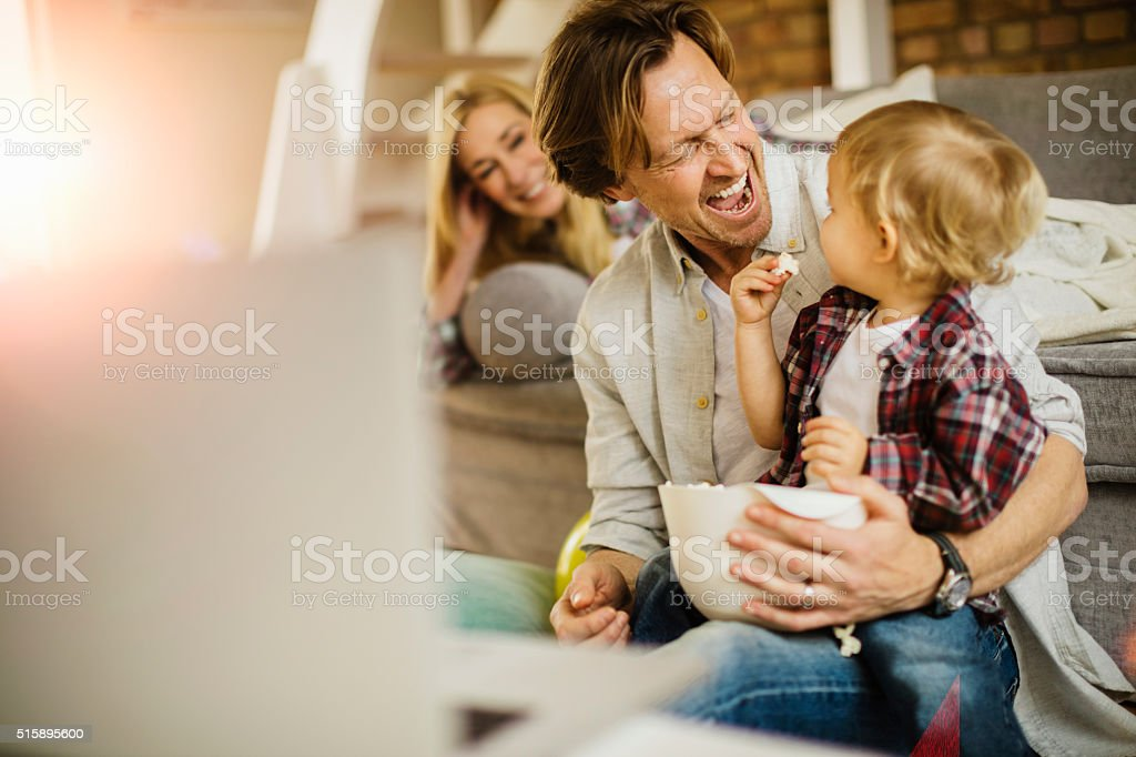 Playful family stock photo