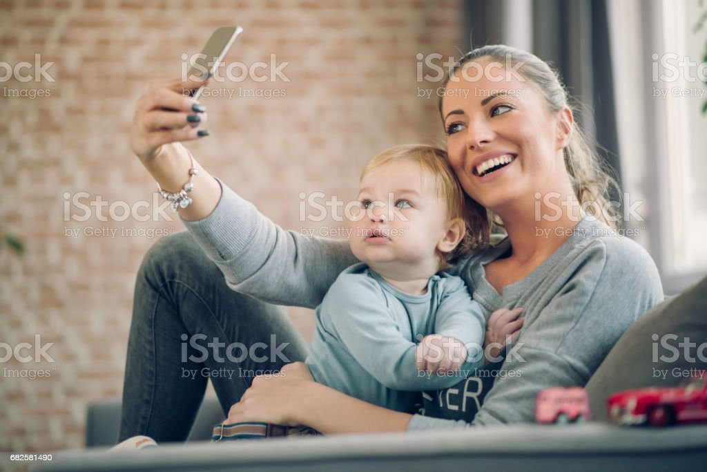 Playful family stock photo