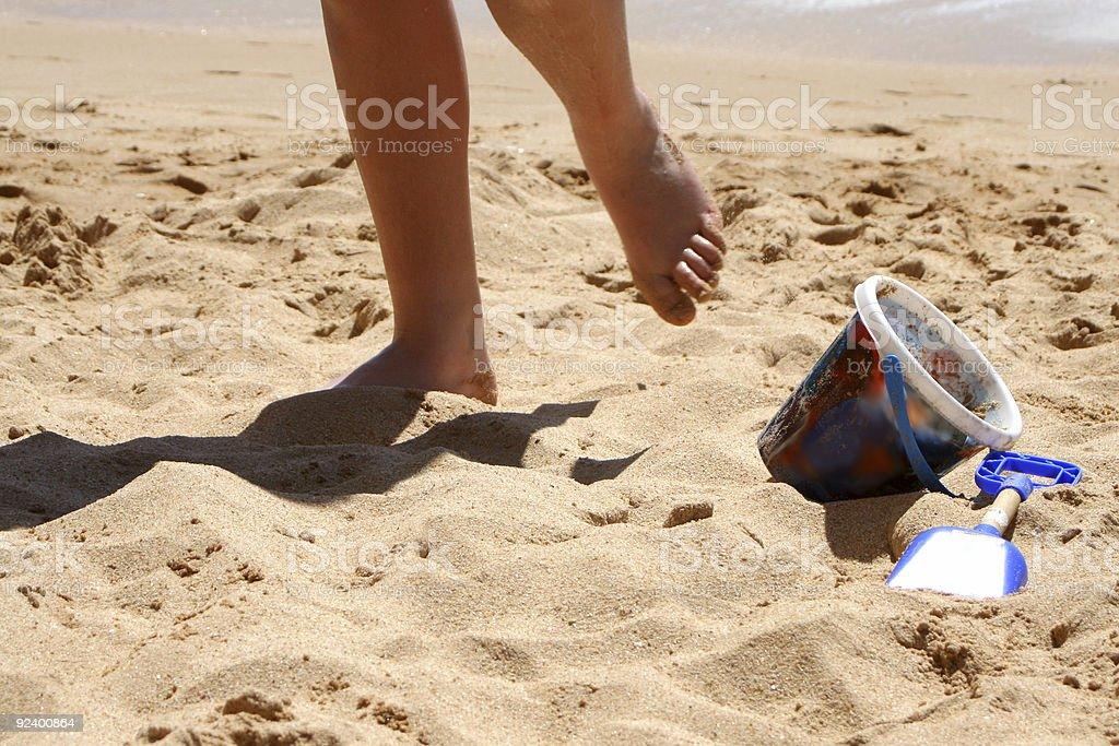 playful feet royalty-free stock photo
