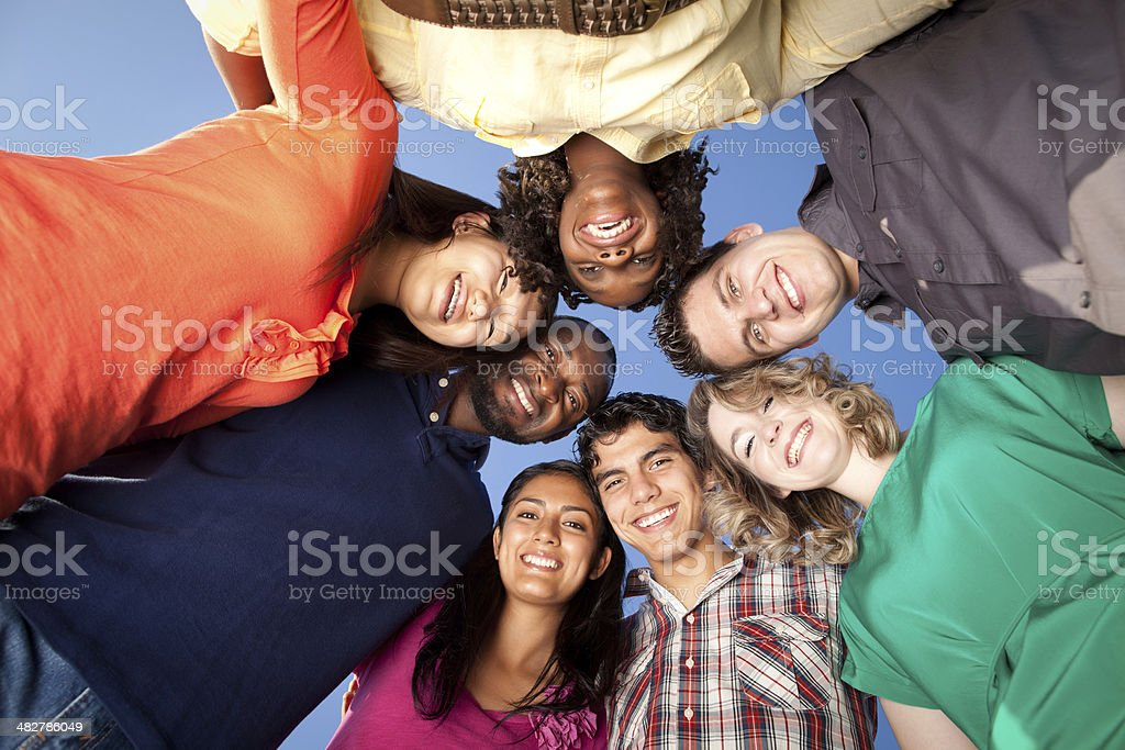 Playful friends royalty-free stock photo