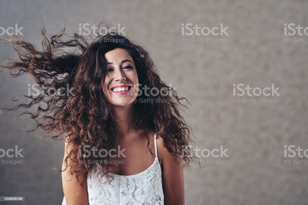 Playful girl stock photo