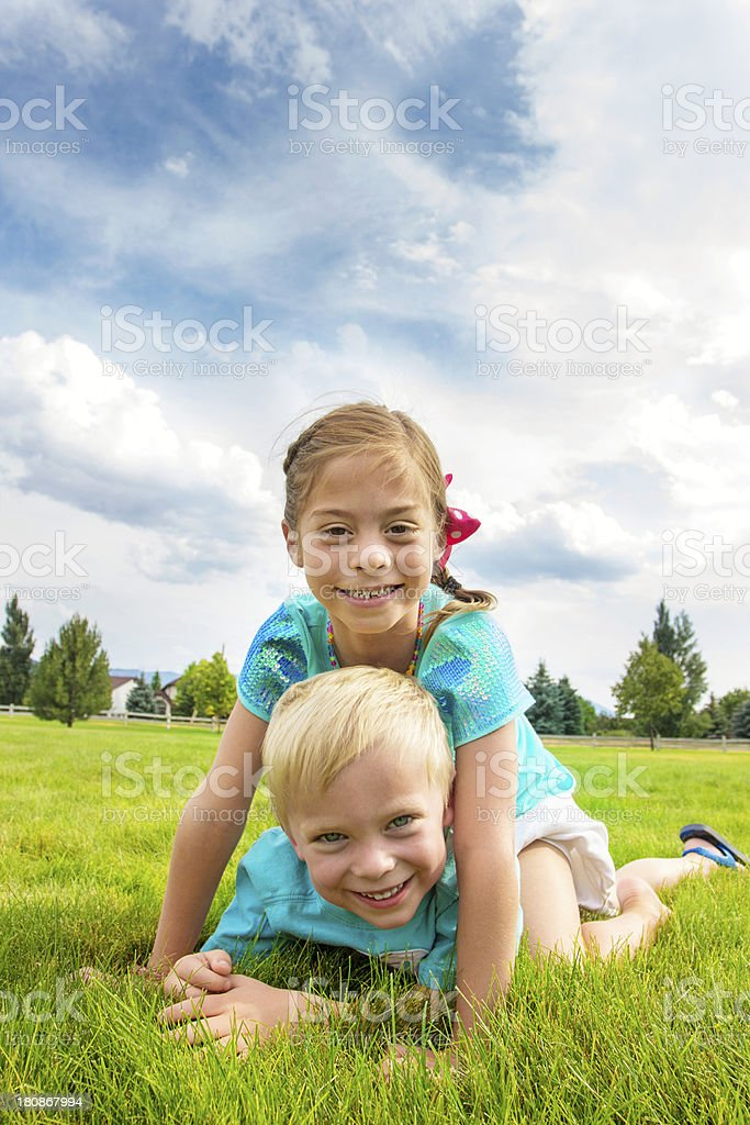 Playful Happy Kids royalty-free stock photo