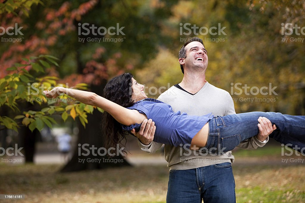 Playful Healthy Relationship royalty-free stock photo