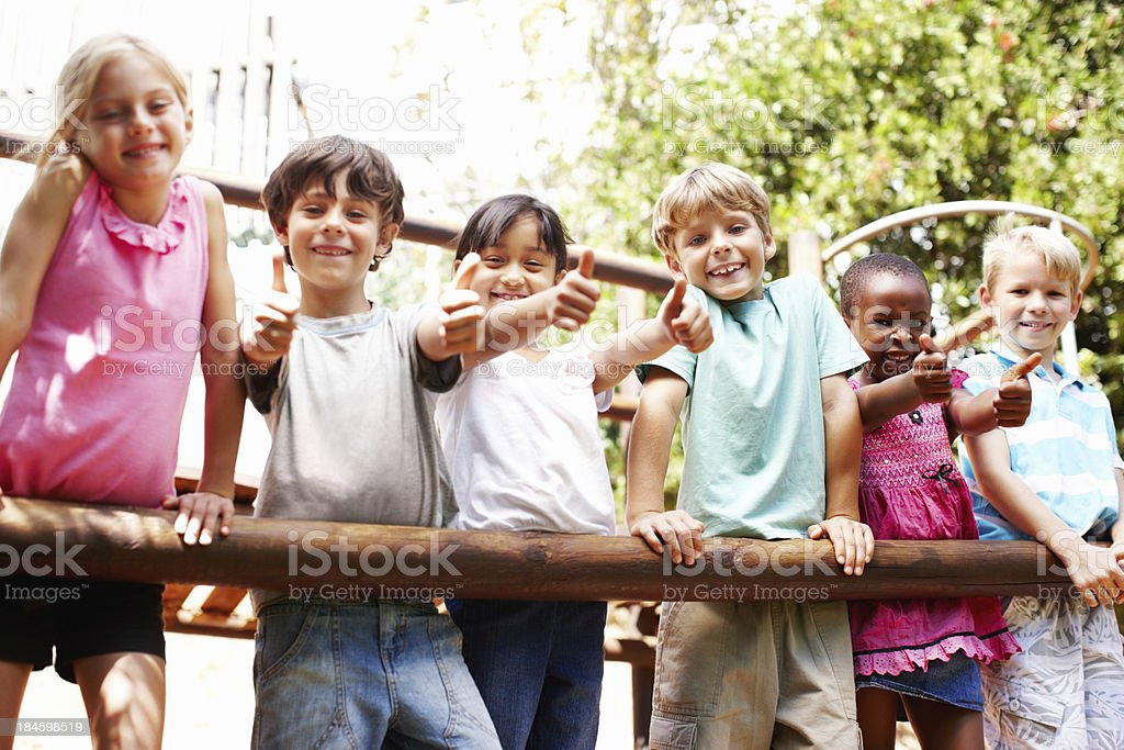 Playful kids having fun together royalty-free stock photo