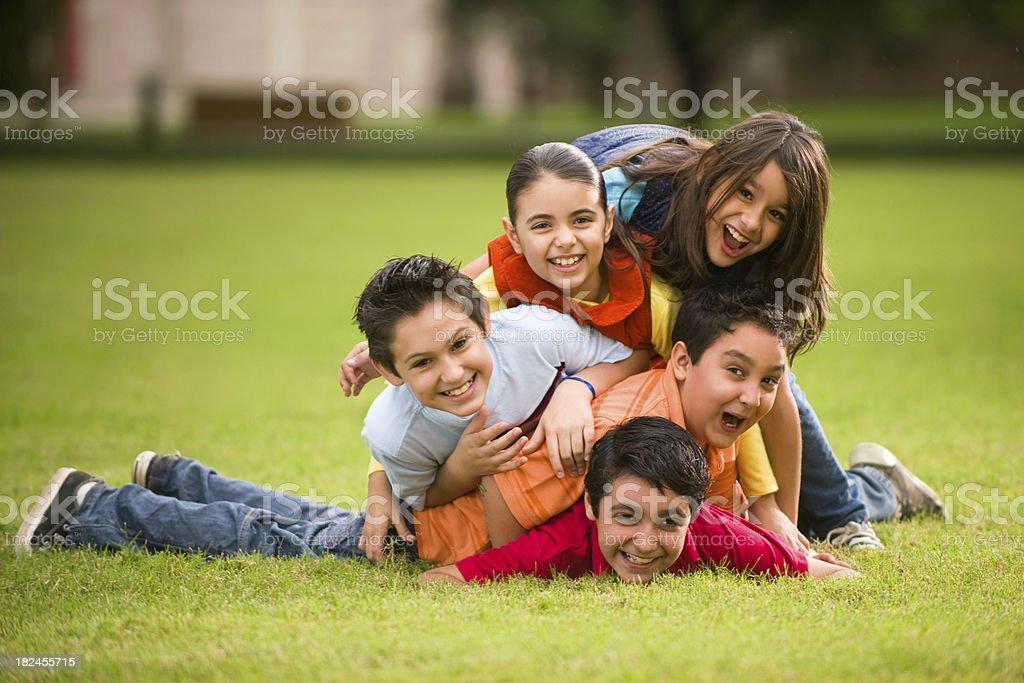 Playful latin kids royalty-free stock photo