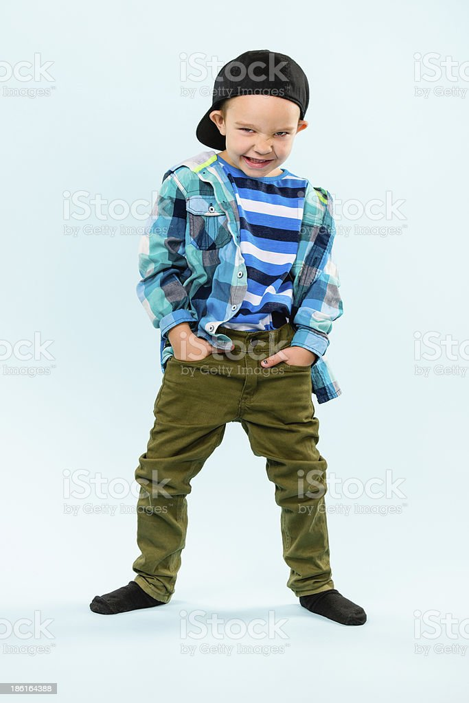 Playful little boy royalty-free stock photo