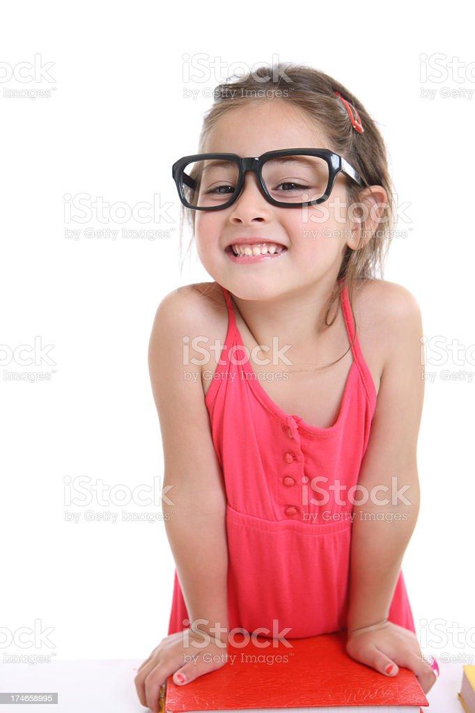 Playful little teacher royalty-free stock photo
