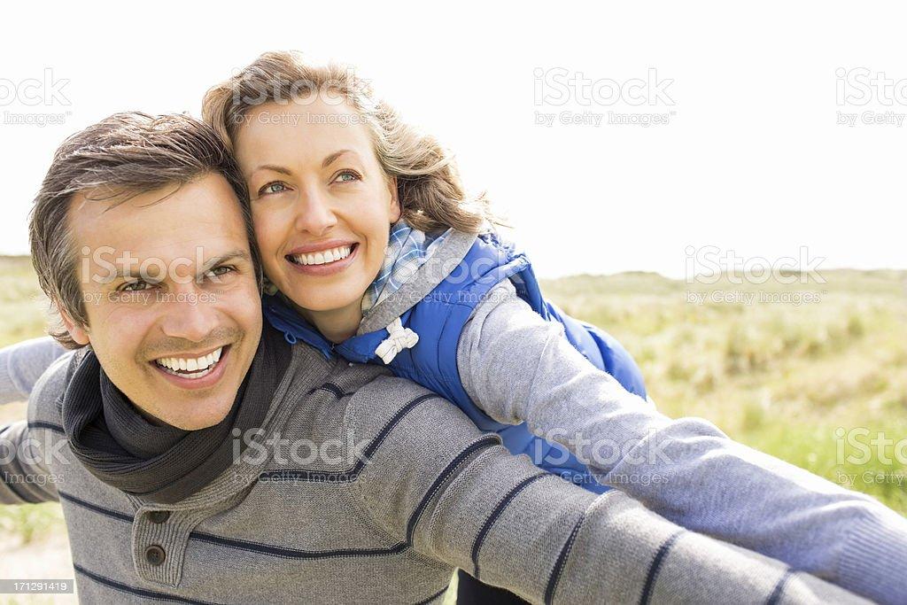 Playful Mid Adult Couple stock photo