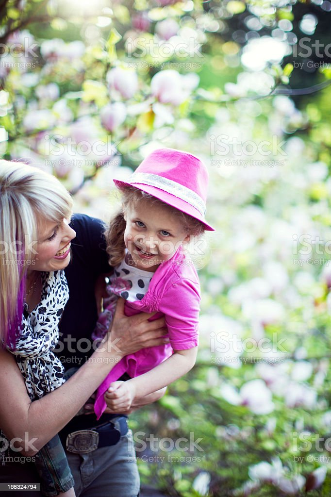 Playful Mom and Daughter Having Fun royalty-free stock photo