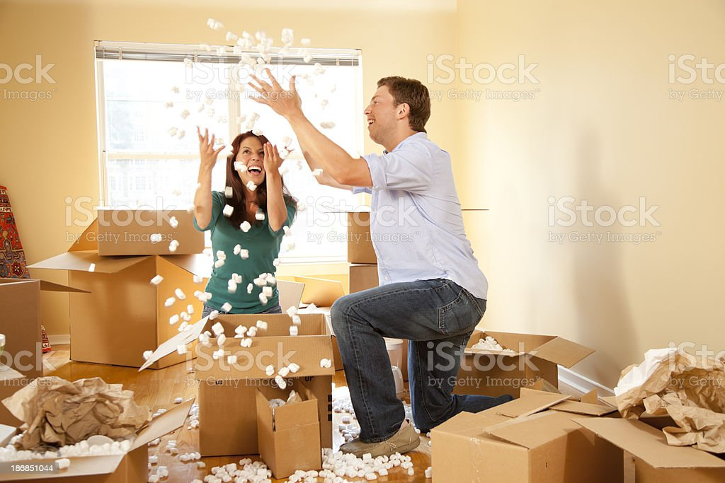 Playful Moving Day royalty-free stock photo