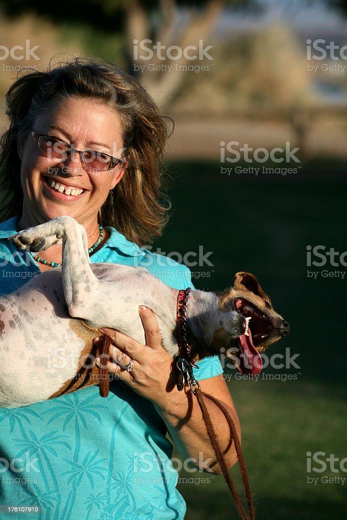 Playful Pet Owner stock photo