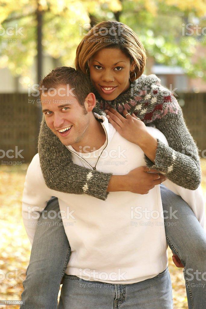 playful piggyback royalty-free stock photo