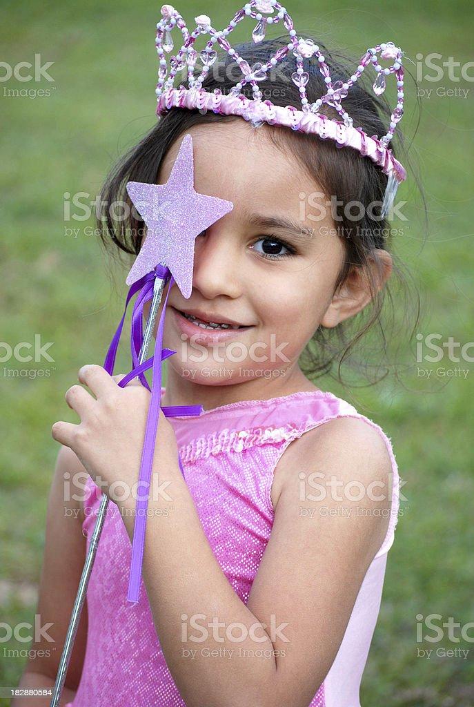 Playful Princess stock photo