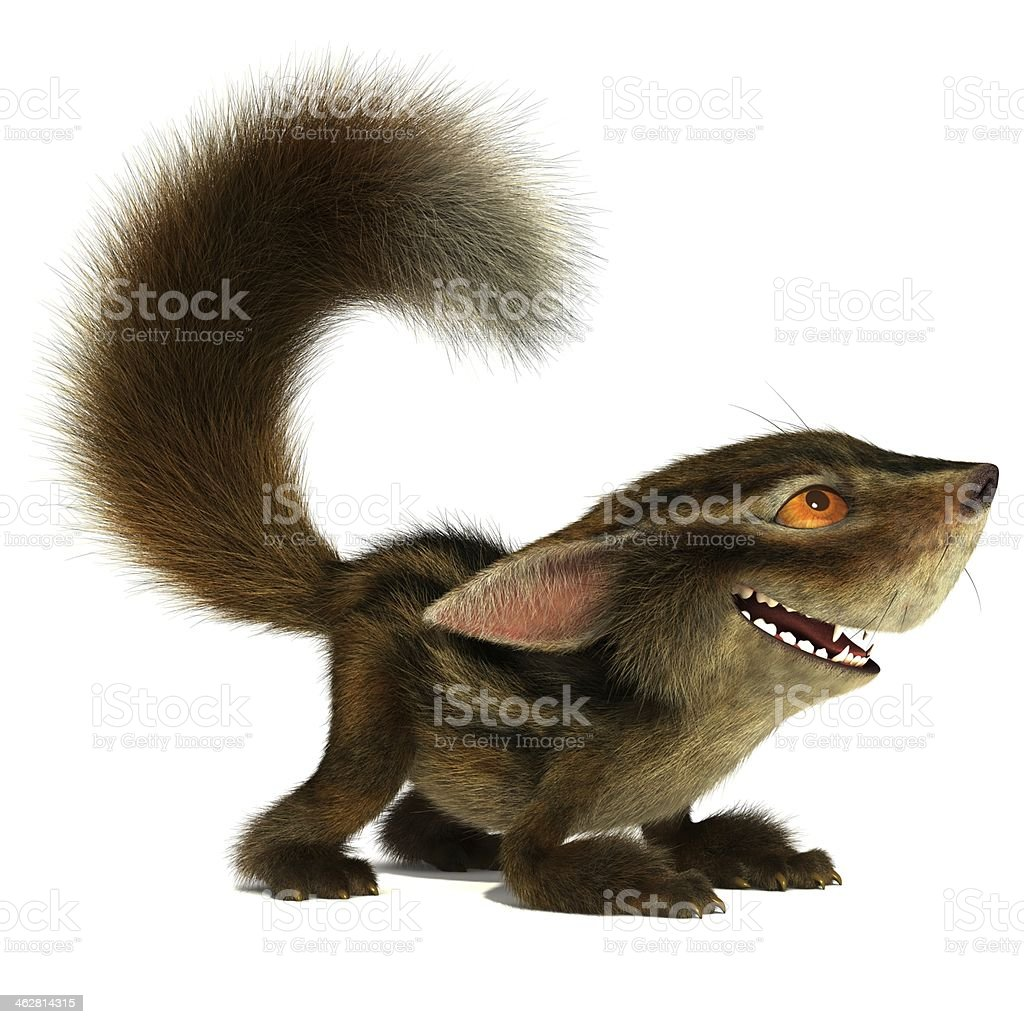 Playful squirrel stock photo